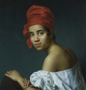 Jacques Guillaume Lucien Amans, Creole in a Red Headdress, ca. 1840, New Orleans