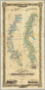 Marie Adrien Persac, Norman's Chart of the Lower Mississippi River, 1858 (Figure 2)