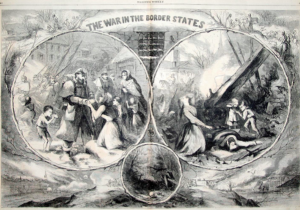 Figure 2. Thomas Nast, The War in the Border States, 1863.