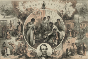 Figure 4. Thomas Nast, Emancipation of the Negroes, 1865.
