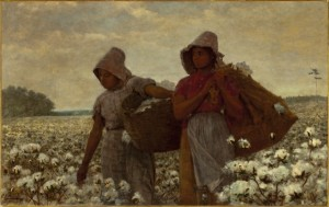 The Cotton Pickers, 1876, Oil on Canvas, by Winslow Homer The Los Angeles County Museum of Art, Art of the Americas Building, floor 3 http://collections.lacma.org/node/184714 (figure two)