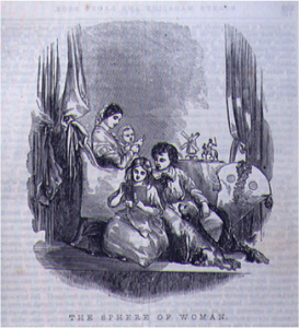 Godey's Lady's Book, The Sphere of Woman, 1860