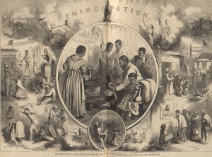Figure 3. Thomas Nast, The Emancipation of the Negroes: The Past and The Future, 1863.