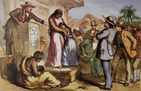 "Figure 1. ""Slave Auction in the American South before the Civil War."" 19th century. The Granger Collection, New York. Reproduced in James McPherson, The Illustrated Battle Cry of Freedom : The Civil War Era, (New York: Oxford University Press, 2003), 33."